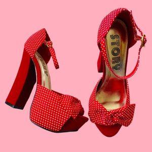 COPY - Lolita babydoll platform chunky high heel …